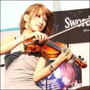 ヴァイオリニスト、ayasa、コスプレ、9等身、美女