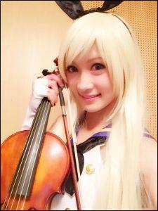 ayasa、コスプレ、ヴァイオリニスト、美人、9頭身