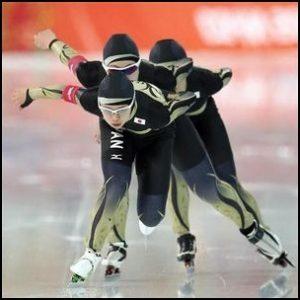 パシュート、スピードスケート、選手、腰、紐、何?