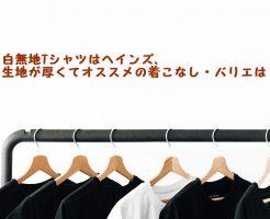 無地白Tシャツ、ヘインズ、生地が厚い、オススメ、着こなし、バリエ