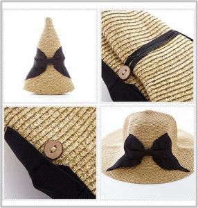 レディース、麦わら帽子、折りたたみ可能、UVカット付、オシャレ、厳選