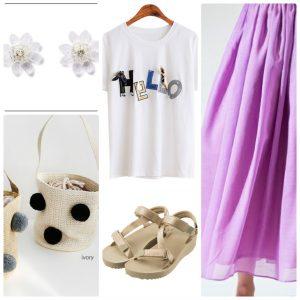 GUスポサン、スカート、パンツ、どう合わせる、2019