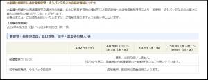 10連休、宅急便、ヤマト、佐川、ゆうパック、コンビニ受取・配送、集荷は?