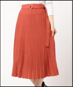 東京独身男子、第4話、仲里依紗、衣装、ニットプリーツスカート、ブランドどこの?