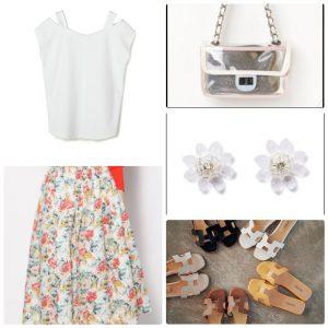 40代・50代、着痩せコーデ、-5キロ、スカート、夏ファッション
